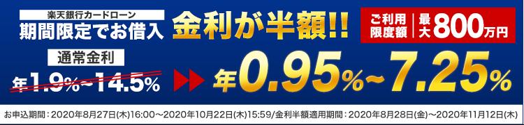 楽天銀行スーパーローンの金利半額キャンペーン