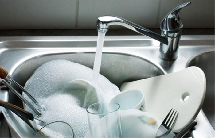 汚れものは事前に水につけておくようにする!
