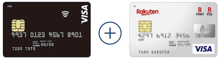 oricocard visa paywave+楽天カード