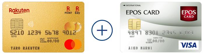 楽天プレミアムカード+エポスカード