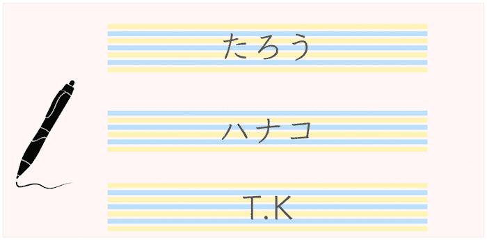 マネされやすい字体で書く