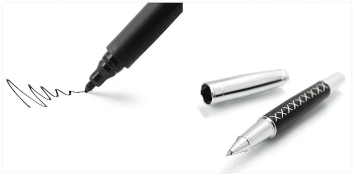 クレジットカード署名欄に使うペン